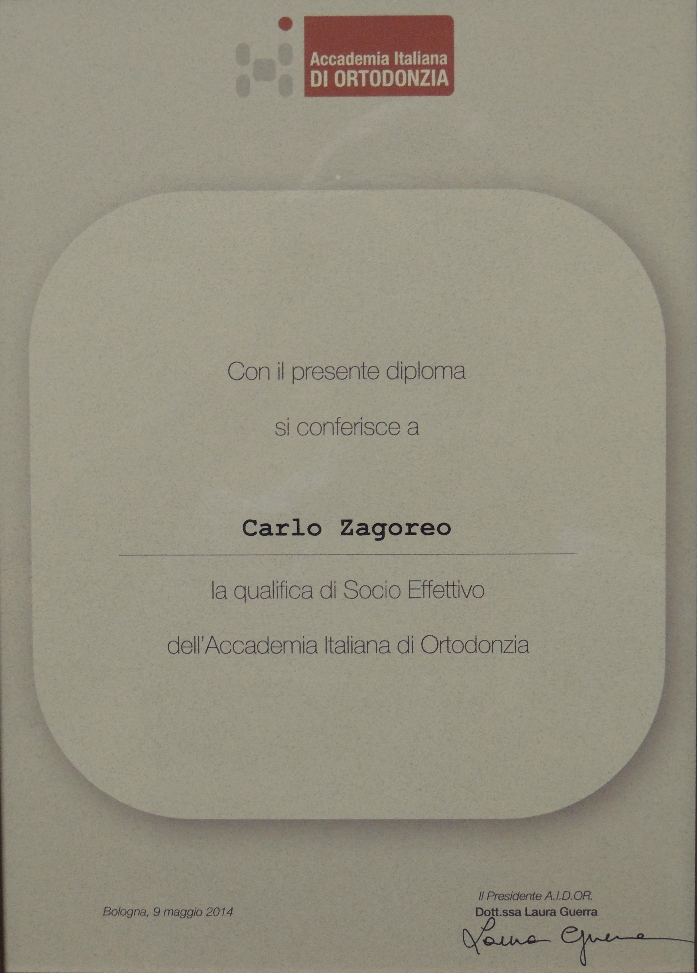 Socio attivo accademia italiana ortodonzia