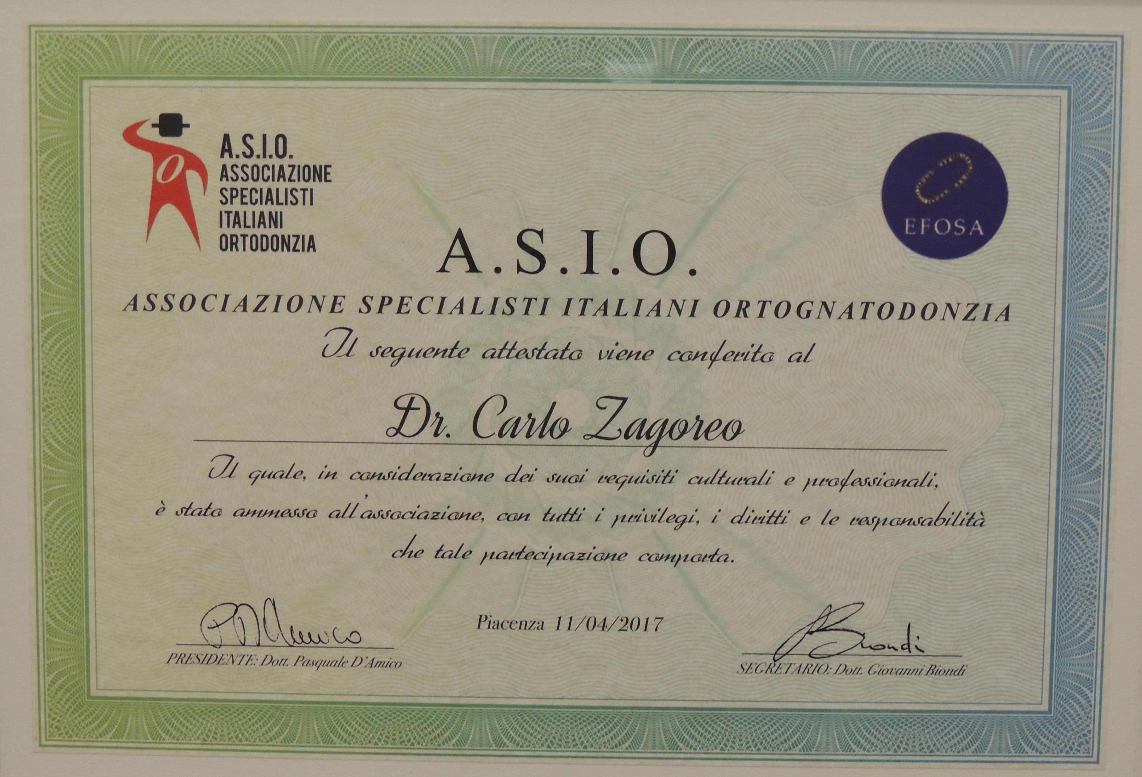 Socio associazione italiana specialisti ortodonzia