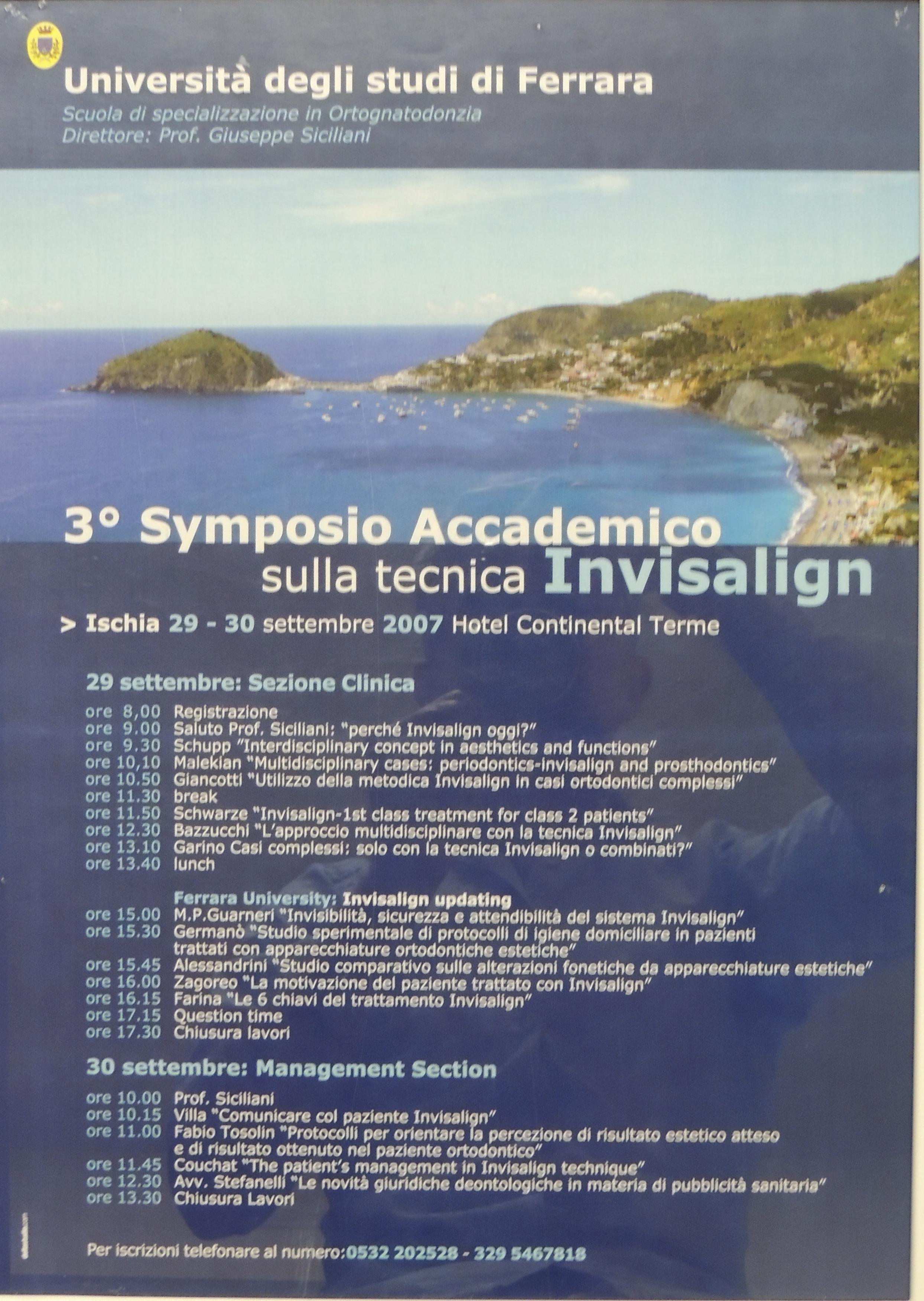 Relatore simposio Invisalign Ischia 2007