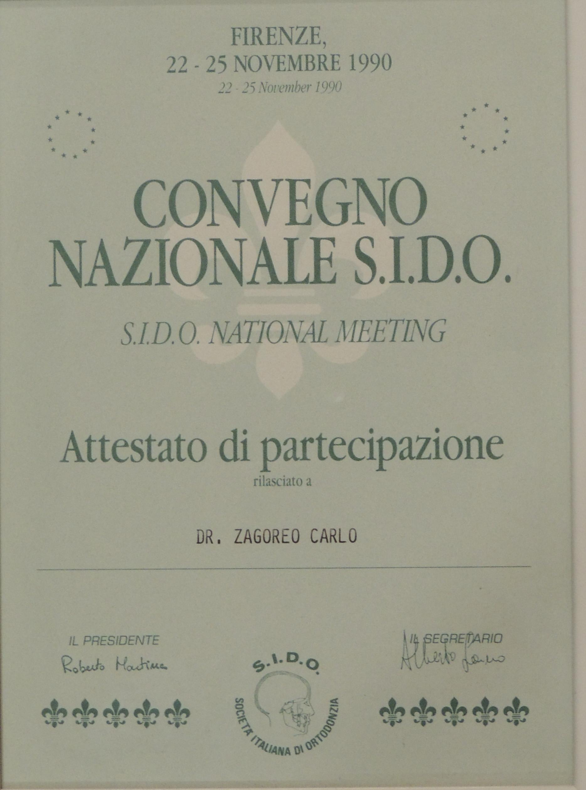 Convegno nazionale S.I.D.O. 1990